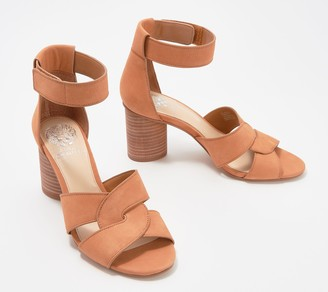 Vince Camuto Leather Heeled Sandals - Jachita