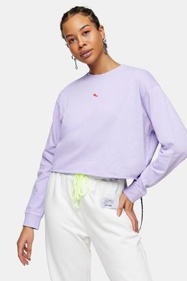 Topshop Womens Petite Lilac Chilli Pepper Sweatshirt - Purple