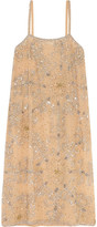 Ashish Embellished Crepe Dress - Beige