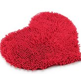 Red Heart Love microfiber chenille Soft Fluffy Rug Bathroom Bedroom Carpet Mat