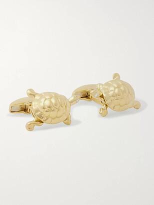 Deakin & Francis Walking Tortoise 18-Karat Gold And Diamond Cufflinks