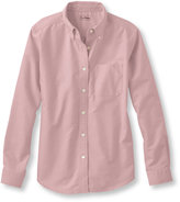 L.L. Bean Easy-Care Washed Oxford Shirt, Relaxed Long-Sleeve
