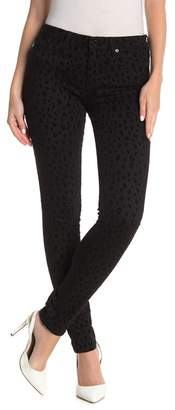 Love Moschino Flocked Leopard Patterned Skinny Jeans
