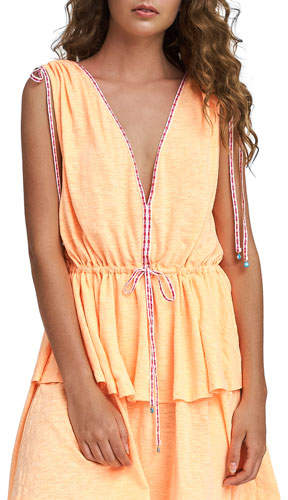 Anastasia Tiered V-Neck Coverup Dress