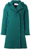 Gianluca Capannolo woven raw edge double breasted coat - women - Acrylic/Nylon/Virgin Wool - 38