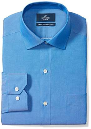 Buttoned Down Tailored Fit Spread-collar Solid Non-iron Dress Shirt French /Pockets)