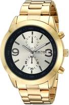 Kenneth Cole Reaction Men's Quartz Metal and Stainless Steel Casual Watch, Color:Gold-Toned (Model: RK50073001)