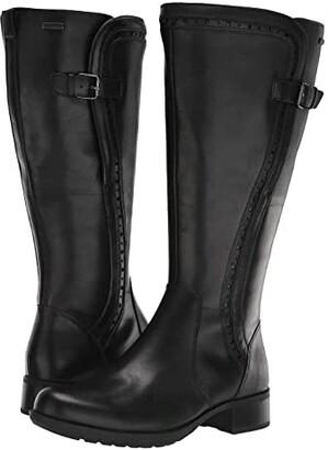 Rockport Copley Tall Wide Calf Waterproof Boot (Black) Women's Boots