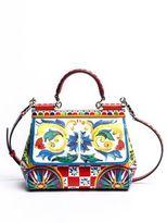 Dolce & Gabbana Sicily Tile-Print Leather Top Handle Satchel