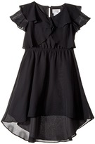 Us Angels Flutter Sleeve Ruffle Front with Hi-Lo Girl's Clothing