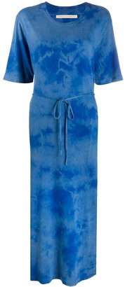Raquel Allegra Belted Tie-Dye Print Dress
