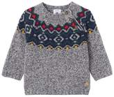 Petit Bateau Baby boys jacquard pullover in a wool blend
