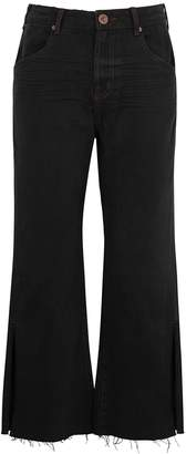 One Teaspoon Oneteaspoon Libertines Black Wide-leg Jeans
