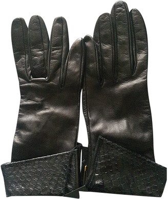 Plein Sud Jeans Black Leather Gloves