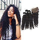 "Echo Beauty Peruvian Natrual Wave With Closure Unprocessed Remy Virgin Human Hair Extensions Natural Color 4pcs/lot 3pcs 26""28""30"" and 1pc Closure 22"""