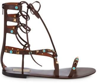 Valentino Garavani Leather Gladiator Sandals