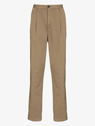 Sunspel Neutrals Relaxed Cotton Trousers