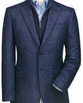 Charles Tyrwhitt Classic fit blue birdseye lambswool jacket