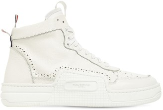 Thom Browne Basketball High-Top Leather Sneakers