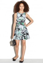 Milly Minis Painted Floral Scoop Neck Dress