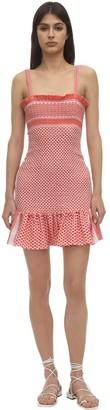 Judith Smocked Cotton Mini Dress