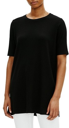 Eileen Fisher Roundneck Ribbed Tunic Dress