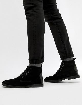 Asos Design DESIGN desert boots in black suede