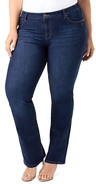 Liverpool Los Angeles Plus Remy Hugger Straight-Leg Jeans in Corvus Darius