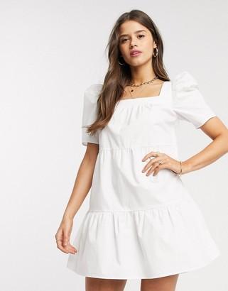 Fashion Union mini smock dress with square neck