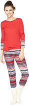 A Pea in the Pod Splendid Cozy 2 Piece Fairisle Maternity Pajama Set
