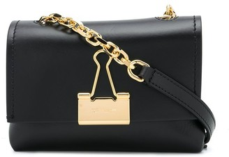 Off-White small Binder Clip clutch bag