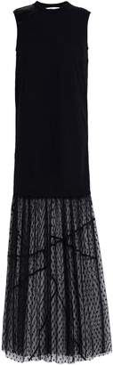 McQ Paneled Lace, Jersey, Satin And Point D'esprit Maxi Dress