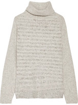 Line Vera Bouclé-Knit Turtleneck Sweater
