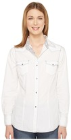 Roper 0855 Solid White Poplin Women's Clothing