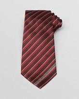 Armani Collezioni Tonal Stripe With Logo Edge Classic Tie