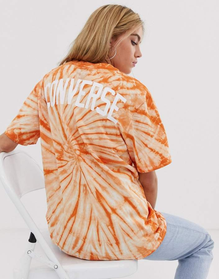 Converse (コンバース) - Converse Tie Dye T-Shirt In Orange