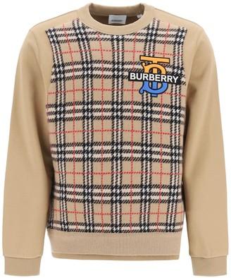 Burberry Monogram Motif Check Sweatshirt