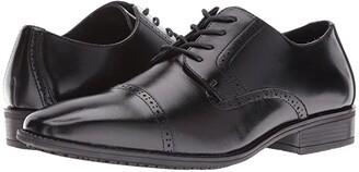 Stacy Adams Abbott Slip Resistant Cap Toe Oxford (Black) Men's Lace Up Cap Toe Shoes