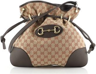 Gucci 1955 Horsebit Messenger Bag GG Canvas Large