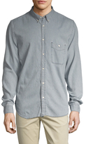7 For All Mankind Oxford Sriped Denim Sportshirt
