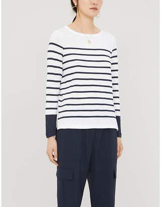The White Company Colourblock breton stripe cotton-jersey T-shirt