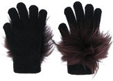 Yves Salomon fluffy gloves