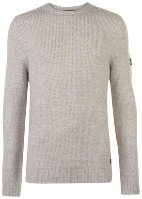 Firetrap Textured Knit Jumper Mens