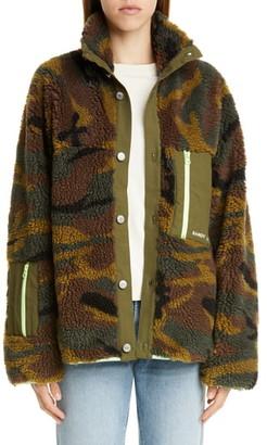 Sandy Liang Rory Camo Print Fleece Jacket