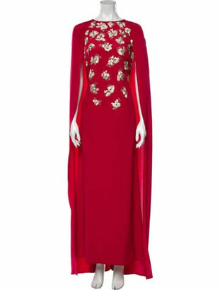 Oscar de la Renta 2017 Long Dress Red