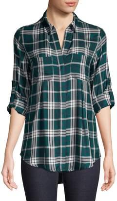 Lord & Taylor Checkered Collared Shirt