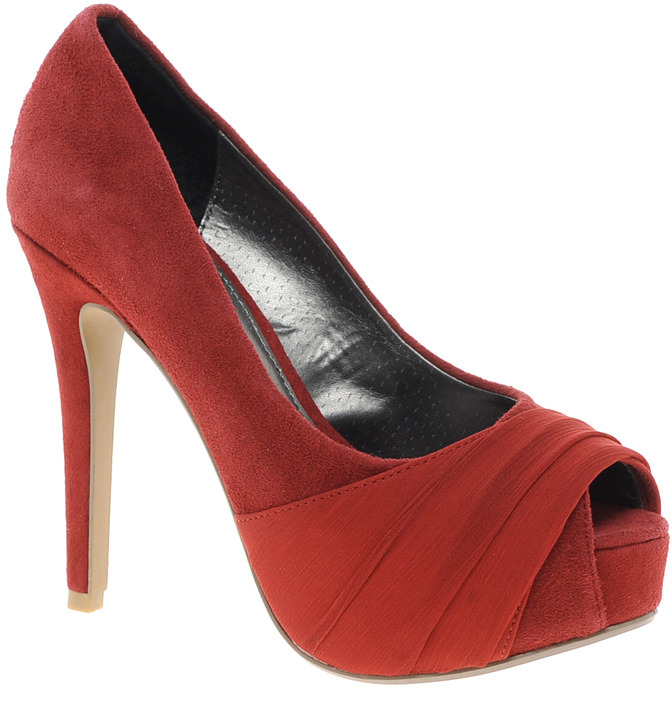 Ravel Red Heeled Peeptoe Shoe