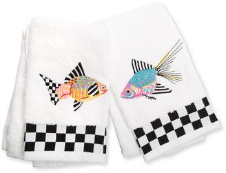 Mackenzie Childs Fantasia Fish Hand Towels Set of 2