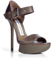 Camilla Skovgaard Metallic Bronze Buckle Strap Sandals