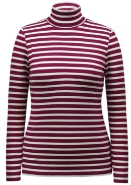 Style&Co. Style & Co Striped Turtleneck Top, Created for Macy's